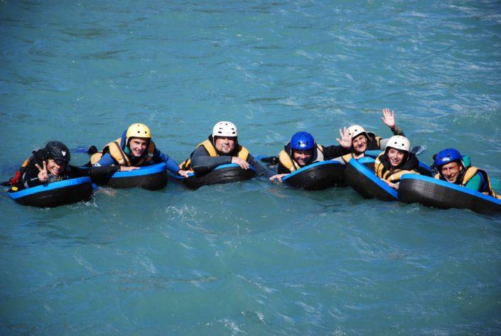 Descente familiale en hydrospeed sur la Durance